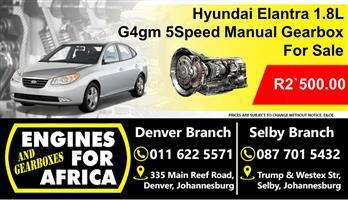 Hyundai Elantra 1.8L G4gm 5Speed Manual Gearbox For Sale