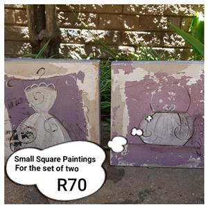 Small square paintings for sale