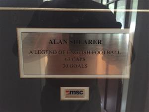 Alan Shearer signed shirt , certificate of authenticity incl
