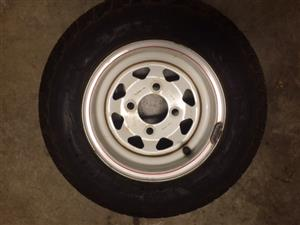 Trailer Spare Wheel/tyre 10inch