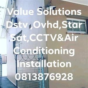 Dstv,Ovhd,Star Sat,CCTV & Air Conditioning Installation/Repairs