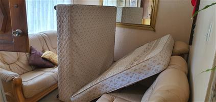 Queen size base and mattress