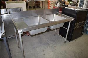 Double steel sink for sale