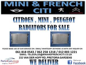 MINI , CITROEN , PEUGEOT RADIATORS FOR SALE