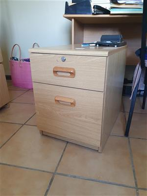 Mini Filing Cabinet with Wheels