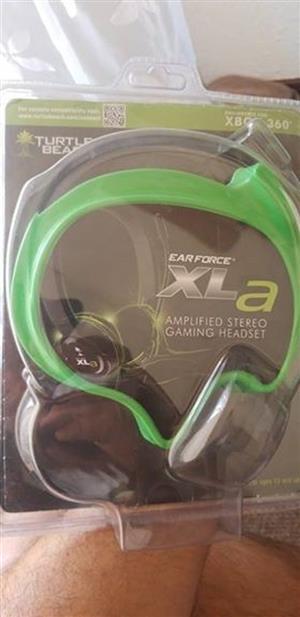 Xbox 360 turtle beach headset earforce XLA