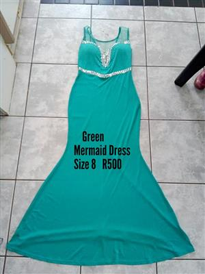 Green mermaid dress for sale