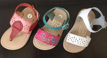 Girls Leather Upper Sandals