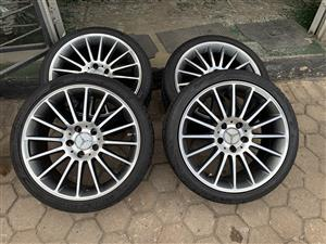 17 Inch Mercedes AMG's with tyres