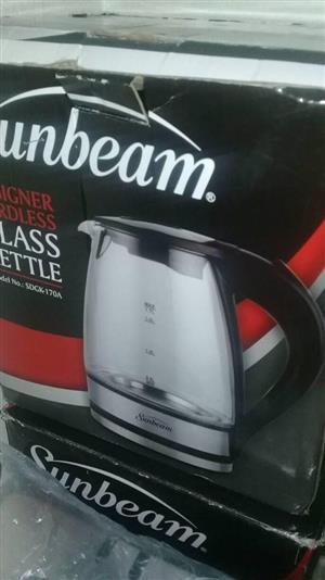 Sunbeam glass kettle