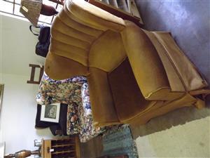 Wingback armchair is a rocker