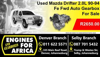 Used Mazda Drifter 2.0L 90-94 Fe Fwd Auto Gearbox For Sale