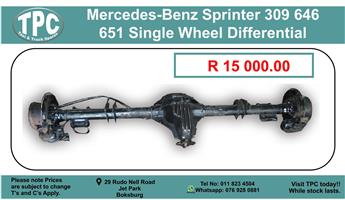 Mercedes-Benz Sprinter 309/646/651 Single Wheel Differential  - For Sale at TPC.