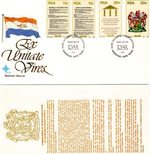 Commemorative Stamp & Envelope Set - Constitution 1984