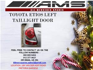 TOYOTA ETIOS LEFT TAIL LIGHT FOR SALE