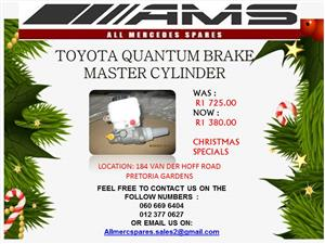 CHRISTMAS SPECIALS !!!! TOYOTA QUANTUM BRAKE MASTER CYLINDER FOR SALE