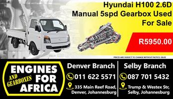 Hyundai H100 2.6D D4b 5speed Manual Gearbox For Sale