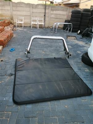 Ford Ranger T6/7-BT50 Double Cab Roll Bar and Tri Fold Toni Cover For sale