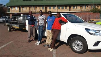 Bakkie and trailer with labour for moving