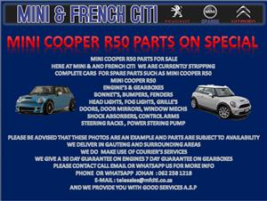 USED PARTS FOR SALE ON MINI R50 AND R52  AND