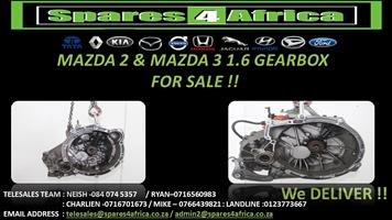 Mazda 2 & Mazda 3 1.6 Gearbox For Sale