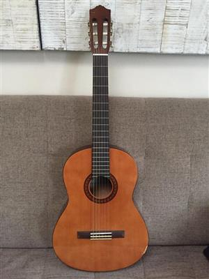 Yamaha C45 Acoustic Nylon Guitar - priced low due to slight damage
