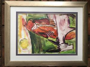 Framed L Barnard Pastel Art work