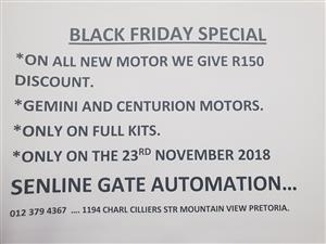 Black Friday Specials on Gemini and Centurion motors
