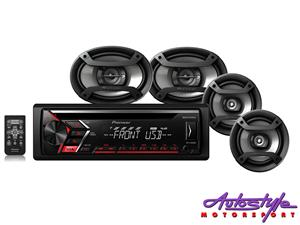 Pioneer DXT-S1069UB Mp3 Cd Player with USB plus Speaker Combo