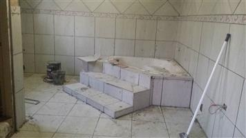 New or old bathroom and floor tiles