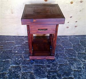 Kitchen Island Farmhouse series 515 mobile with drawer Stained
