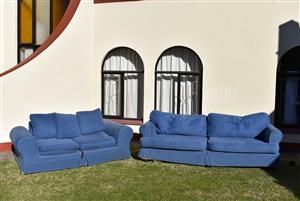 Denim Blue CoriCraft style couches! 2 Seater and 3 Seater