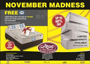 NOVEMBER MADNESS DEALS AT ASCOT BEDS & FURNITURE - ALBERTON & BLACKHEATH DEALS!