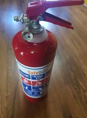 2.5kg Safe Quip brandblusser in puik toestand.R160.