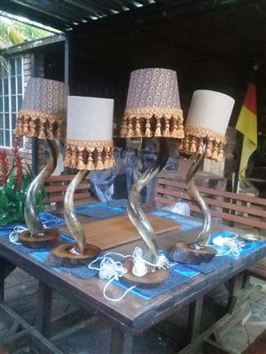KUDU HORN LAMPS R750 EACH (POLISHED)
