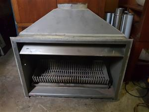 Jetmaster ALL Stainless Steel Open Fireplace