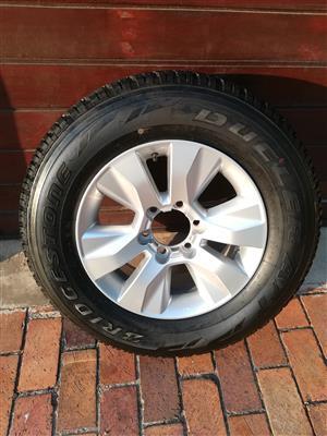 One Brand New Toyota Hilux GD-6 17 inch Original Spare Wheel with New Bridgestone Dueler Tyre