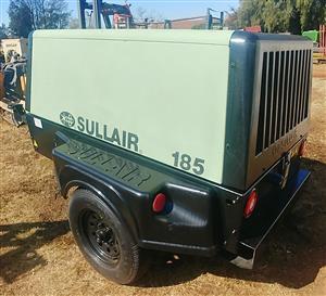 2012 Sullair 185Cfm Mobile Diesel Compressor - 1460hrs