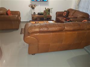Genuine Gemsbok&Kiaat Alpine Leather Suite for sale with all their Documentation