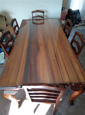 Blackwood dinningroom table and chairs