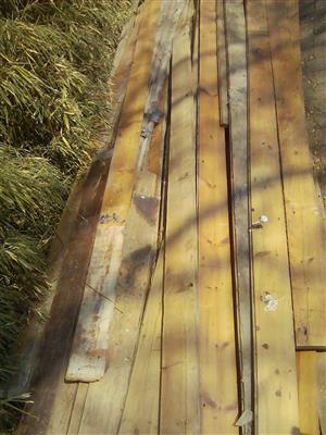 100mm wide reclaimed Oregon pine flooring