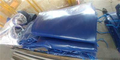 9m x 9m heavy duty truck covers/tarpaulins and cargo nets