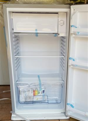 Fussion 118 litres stainless steel bar fridge with small freezer compartment