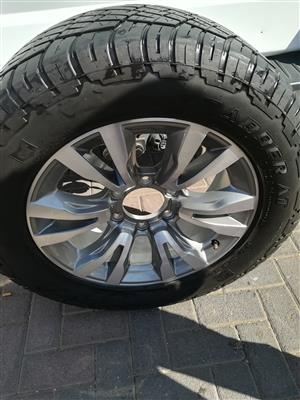 One Good Used Isuzu X-Rider 18 inch Spare Wheel with Grabber Tyre R2950