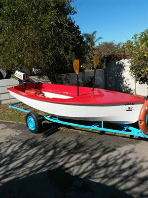 Boat with 15HP suzuki motor and trailer