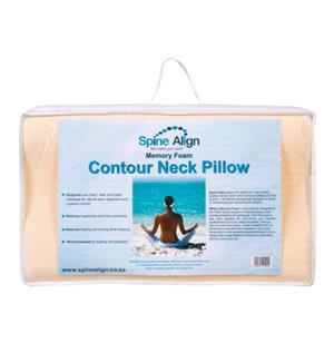 Memory Foam Spine Align Contour neck pillow