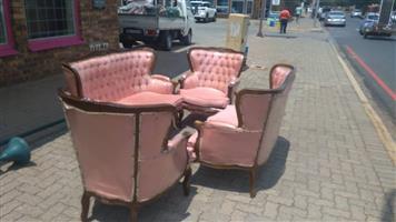 Pink vintage lounge suite