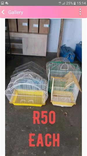 Various color baby parrot cages