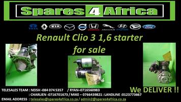 Renault Clio 3 1.6 Starter for sale.