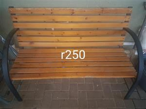 Wooden garden bench for sale